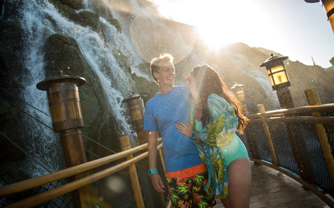 Take a stroll under the mighty Krakatau at Universal's Volcano Bay.