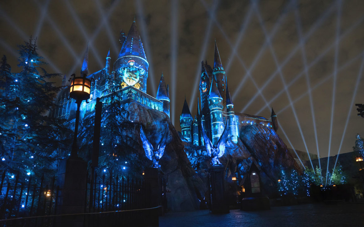 The Nighttime Lights at Hogwarts Castle - Ravenclaw