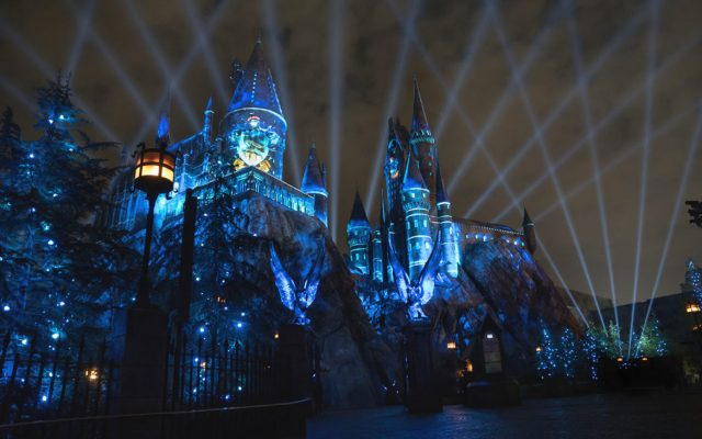 The Nighttime Lights at Hogwarts Castle - Ravenclaw