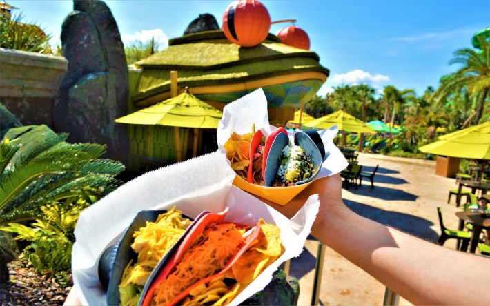 Chicken and Steak Tacos - Volcano Bay Feasting Frog