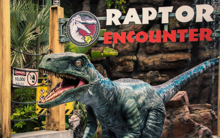Blue Joins Raptor Encounter at Universal's Islands of Adventure
