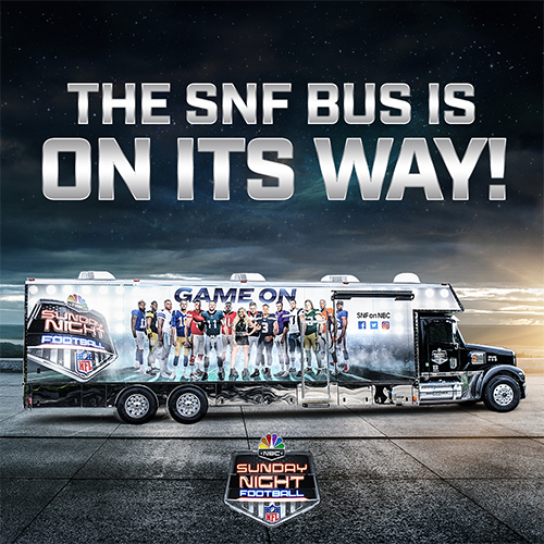 Sunday Night Football Bus at NBC Sports Grill & Brew