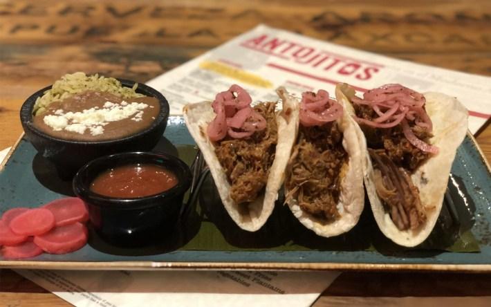 Cochinita Tacos at Antojitos