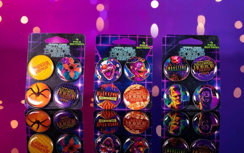 Conjunto de botones de Halloween Horror Nights