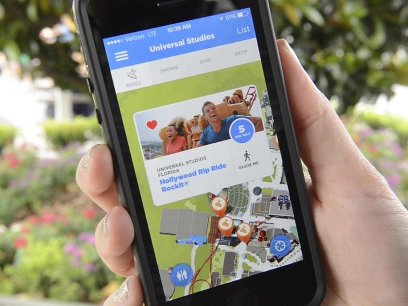 La aplicación móvil de Universal Orlando Resort