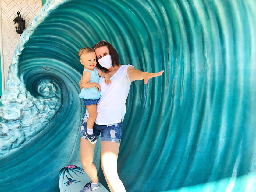 Tabla de surf Quiet Flight en Universal CityWalk