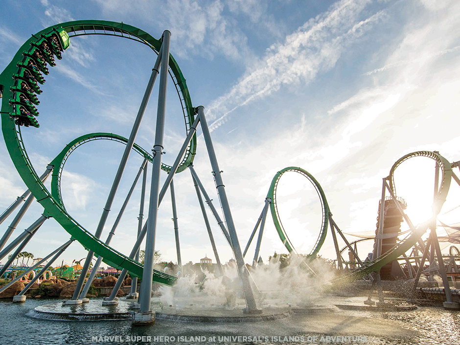 The Incredible Hulk Coaster at Universal's Islands of Adventure