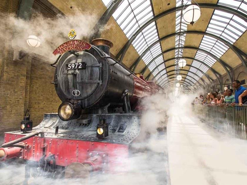 Expreso de Hogwarts en la estación de King's Cross