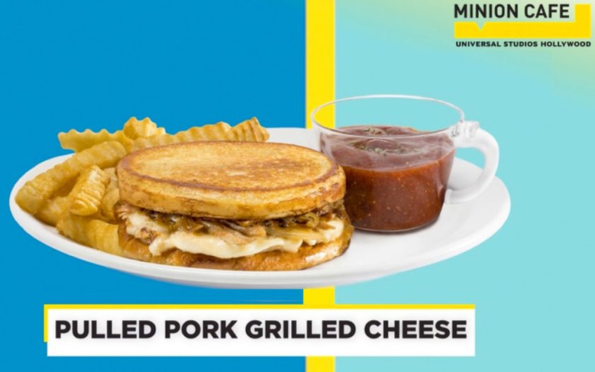 Queso asado de cerdo desmenuzado en Minion Cafe