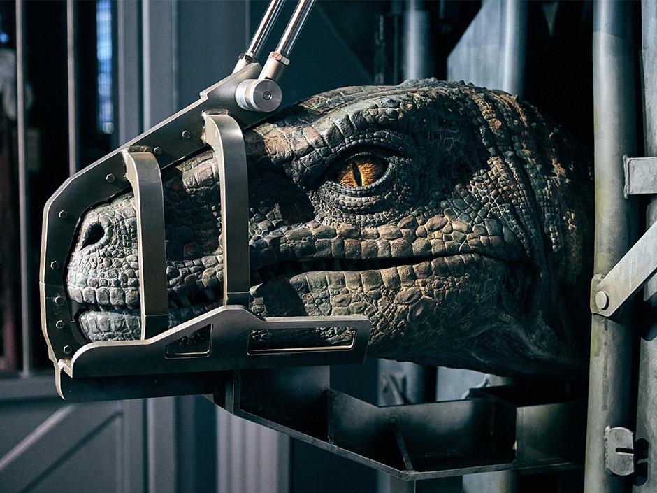 Velociraptor Animated Figure from Jurassic World VelociCoaster