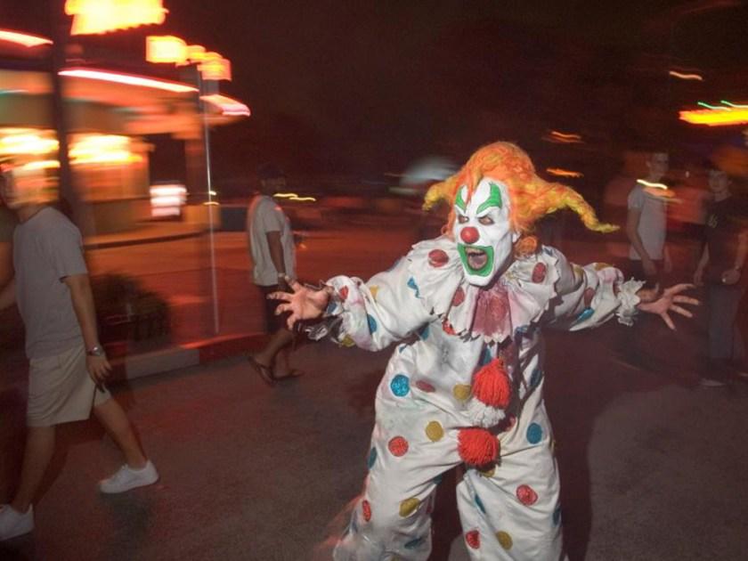 Jack el payaso en Halloween Horror Nights