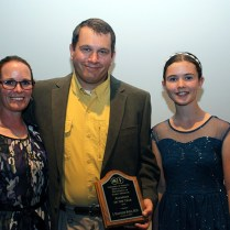 Alumnus of the Year J. Matthew Byrd and family