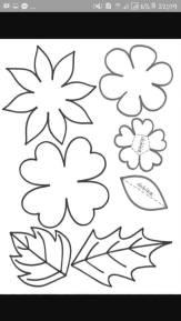 contoh pola flanel daun/bunga