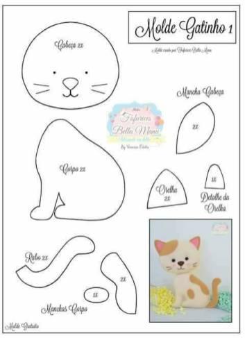 contoh pola flanel kucing
