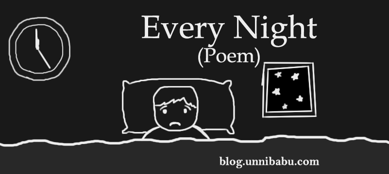 every night poem, insomnia art