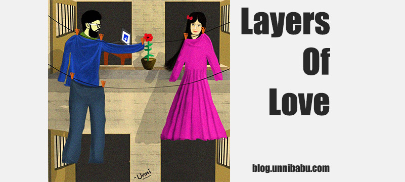 layers of love, surreal painting about love
