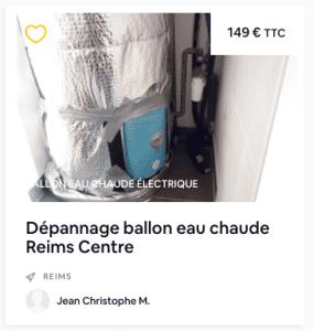 dépannage ballon eau chaude reims centre