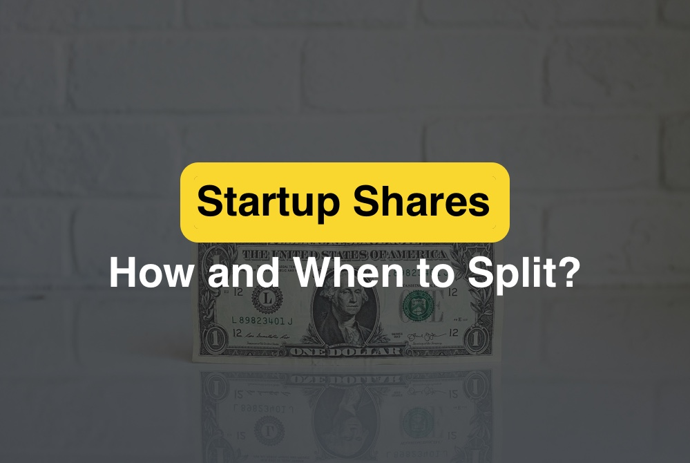 Startup shares. how and when to split shares among stakeholders?