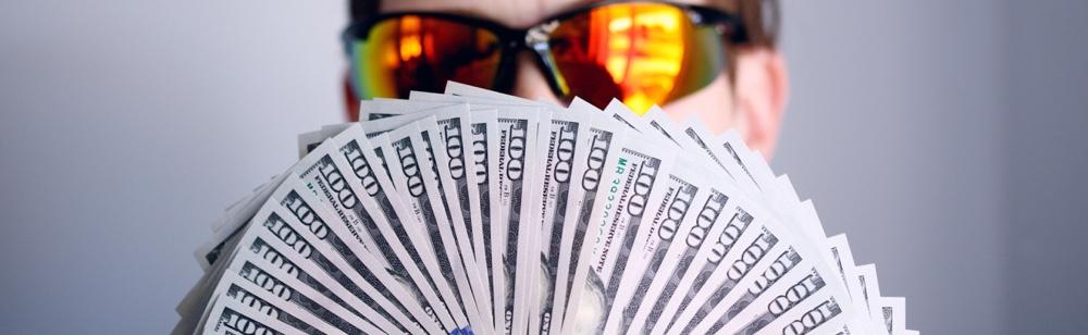 funding. guy with money. start key factor