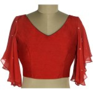 Embroidered Red Blouse