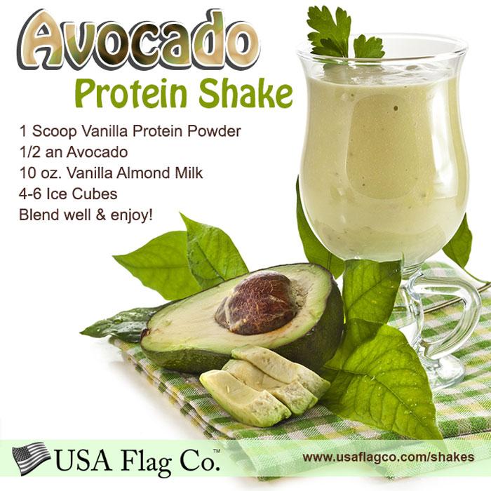 Avocado Protein Shake Recipe from USA Flag Co.