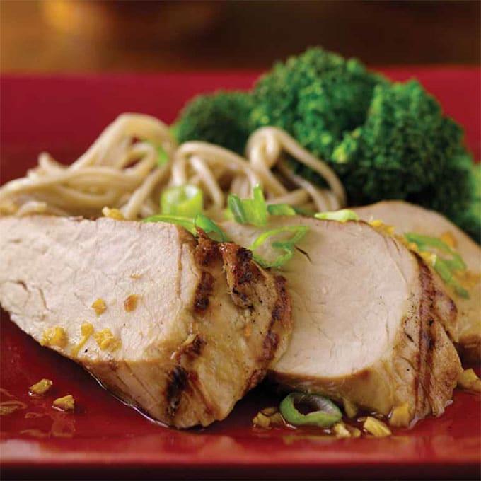 Grilled Pork Tenderloin with Asian Sauce Recipe