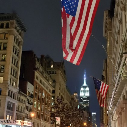 USA Flag in New York City