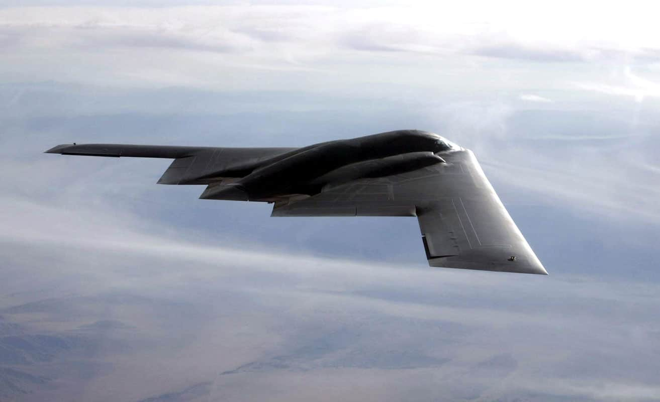 The B-2 completed its first-ever combat deployment in support of Operation Iraqi Freedom, flying 22 sorties from a forward operating location as well as 27 sorties from Whiteman AFB and releasing more than 1.5 million pounds of munitions. The aircraft received full operational capability status in December 2003.