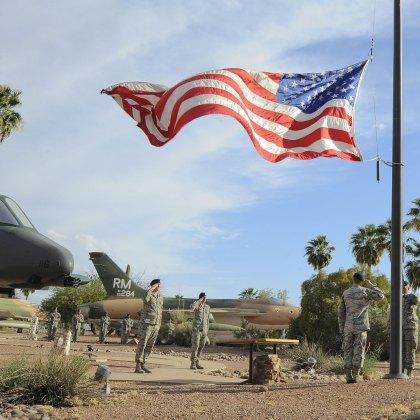 American Flag National Police Week