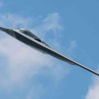 A 509th Bomb Wing B-2 Spirit conducts a fly-by during the Scott Air Force Base 2017 air show and open house June 11, 2017, which celebrates the base's 100th anniversary. The B-2 is a multi-role bomber capable of delivering both conventional and nuclear munitions and represents a major milestone in the bomber modernization program. With a crew of two pilots, this aircraft brings a massive firepower to bear, in a short time, anywhere on the globe through impenetrable defenses.