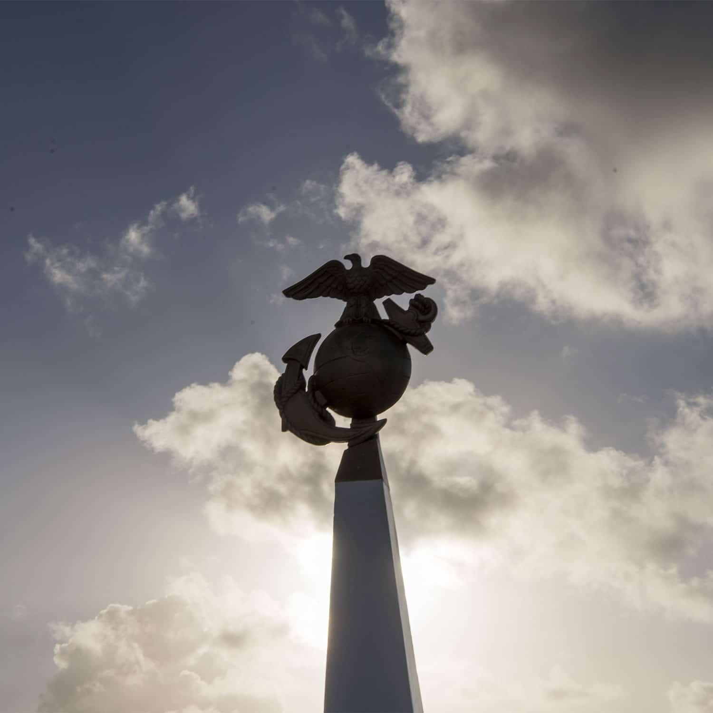 The Marine Corps Memorial on Wake Island.