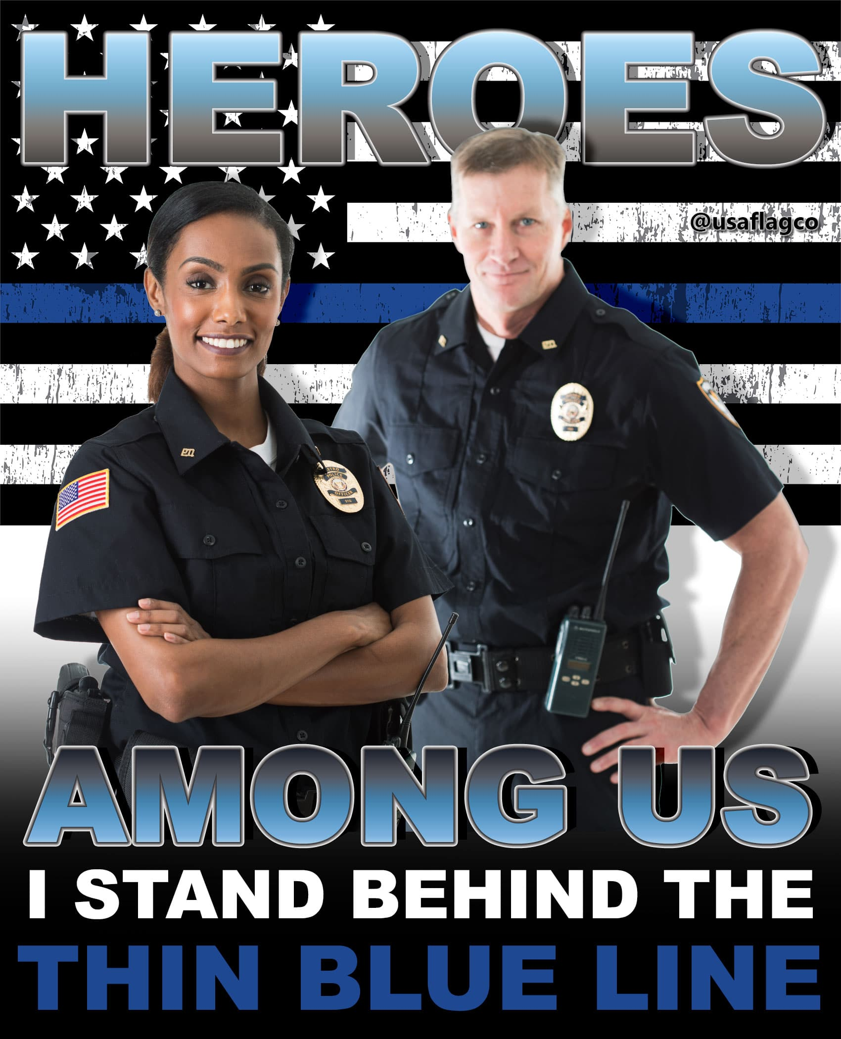 Protector, Savior, Counselor, Parent, Guardian, Life-Saver, Diplomat, Minister, Social Worker, Compassionate, Tolerant, Fearless, Courageous, Honorable & Selfless. WE ARE THE THIN BLUE LINE... EVERYDAY HERO!