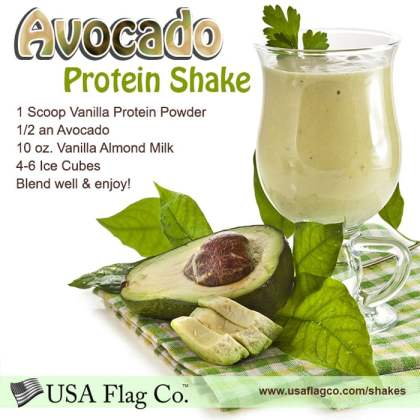 Avocado Protein Shake Recipe from USA Flag Co.