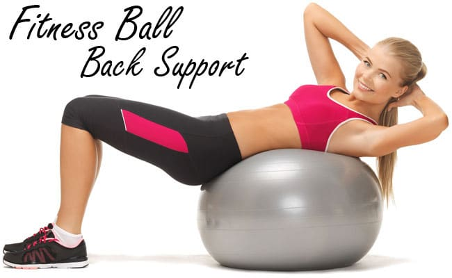 Fitness Ball Back Support