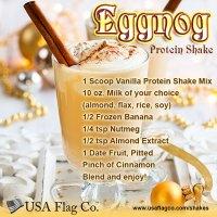 Eggnog Protein Shake