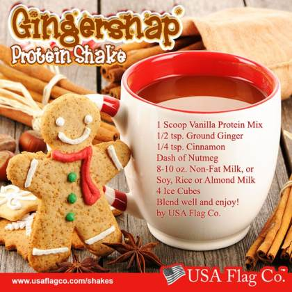 Run Run as fast as you can. You can't catch me, I'm the Gingerbread Man! Try this delicious Gingersnap Protein Shake Recipe to stay fit during the holidays!