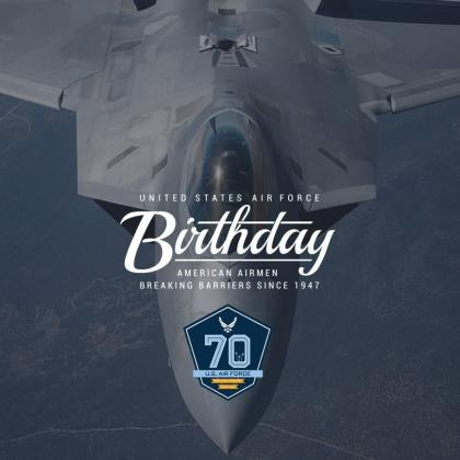 70th United States Air Force Birthday