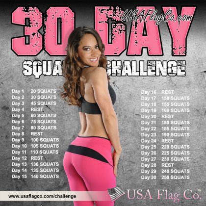 30 Day Squat Challenge by USA Flag Co.