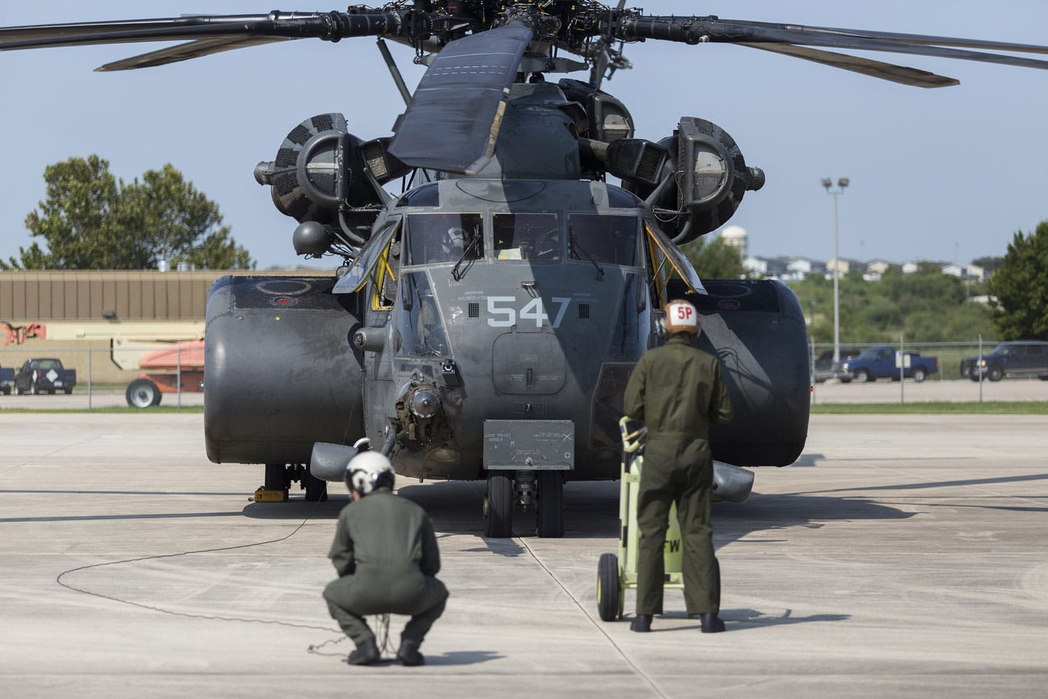 United States Navy HM-14 aids in Hurricane Harvey Relief Efforts. Helicopter Mine Countermeasures Squadron 14 Sailors prepare a MH-53E Sea Dragon.