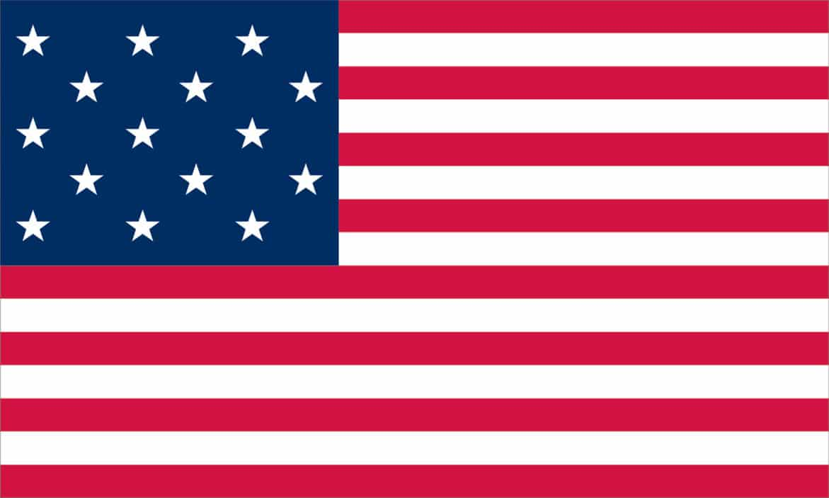 The Star Spangled Banner flag was the only U.S. Flag to have more than 13 stripes. It was immortalized by Francis Scott Key during the bombardment of Fort McHenry, Sept 13, 1814.