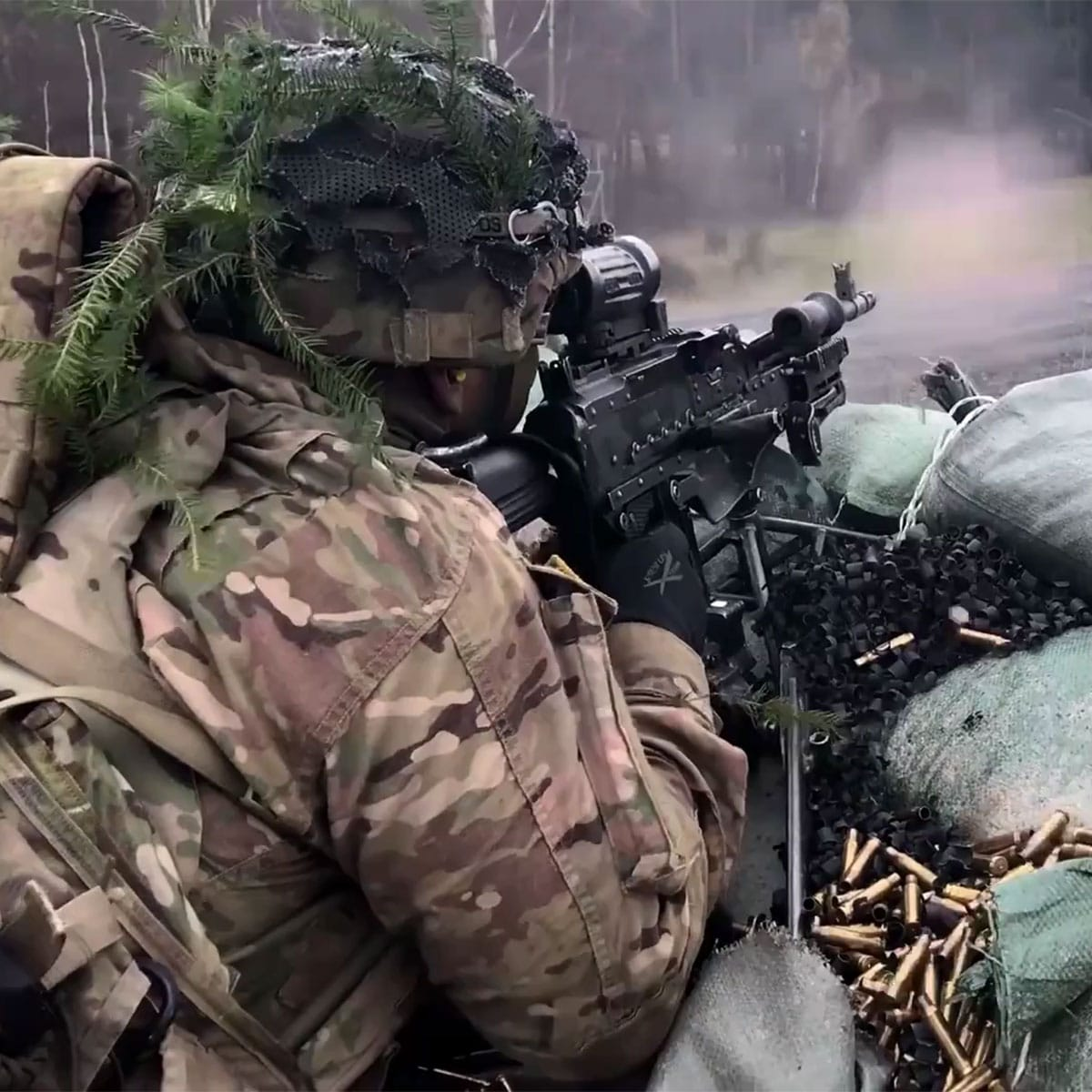 US Army Sky Soldiers assigned to the 173rd Airborne Brigade Paratroopers conduct a live fire training exercise as part of Eagle Strike 17.