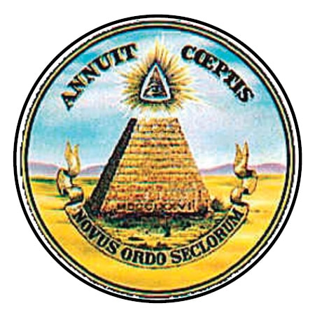 The pyramid signifies strength and duration: The eye over it and the motto, Annuit Coeptis (meaning He, [God] has favored our undertakings), allude to the many interventions of Providence in favor of the American cause.
