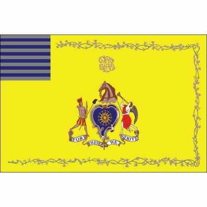 Philadelphia Light Horse Flag: It's motto; For These We Strive