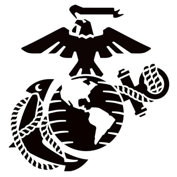 The Symbolic Eagle Globe and Anchor Emblem of the United States Marine Corps.