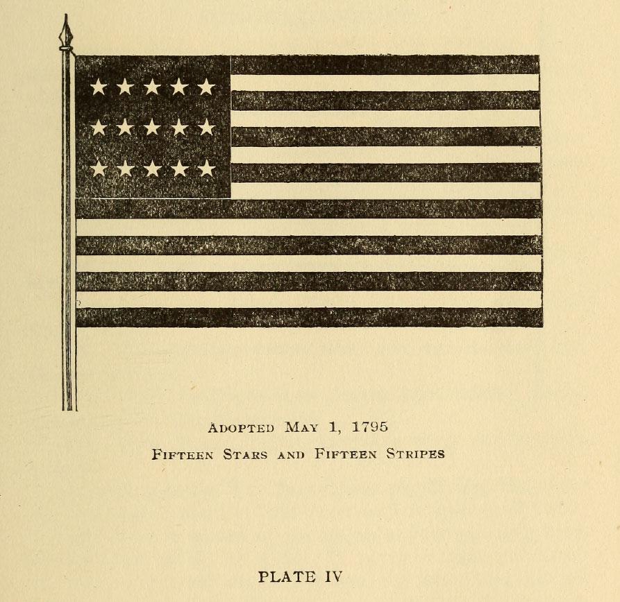 Fifteen Stars and Fifteen Stripes Flag