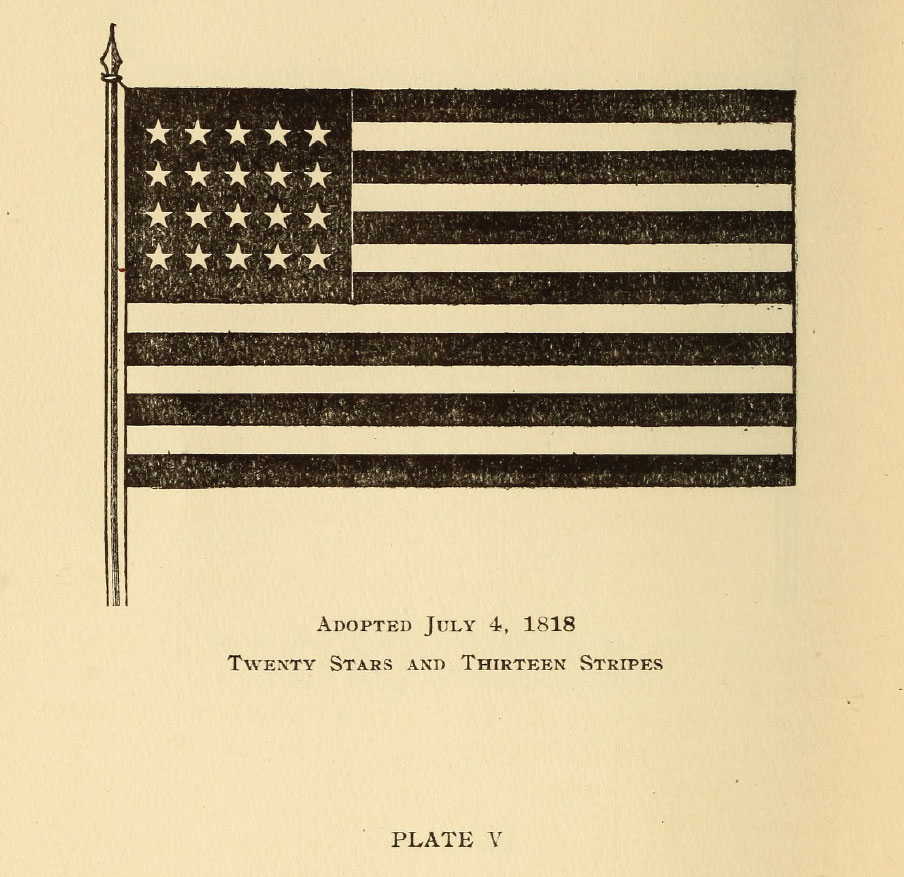 Twenty Stars and Thirteen Stripes Flag