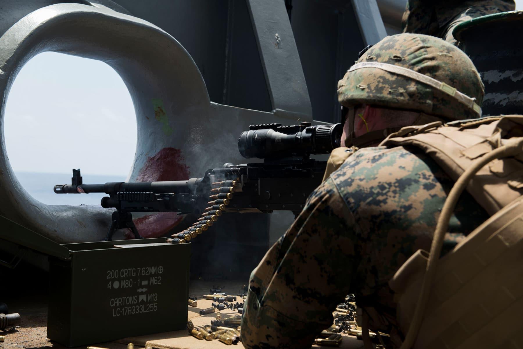 U.S. Marines M240B Machine Gun