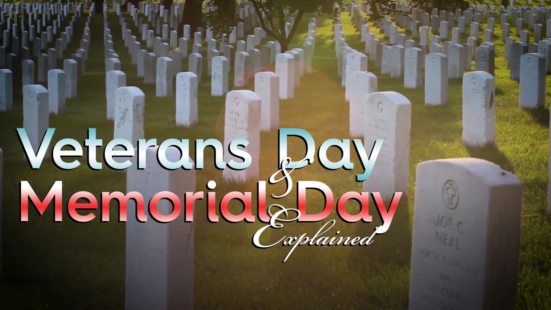 There's one big difference between Veterans Day and Memorial Day, though the history of each is rooted in the history of our country's wars.
