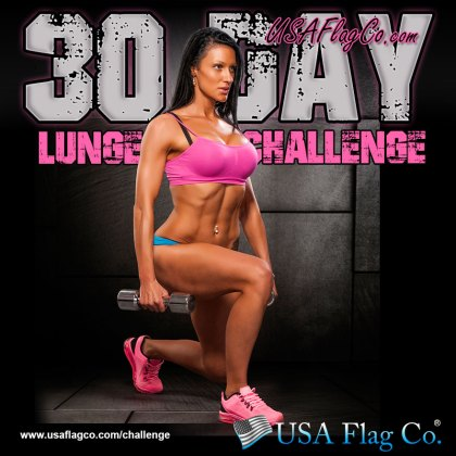 30 Day Lunge Challenge by USA Flag Co.