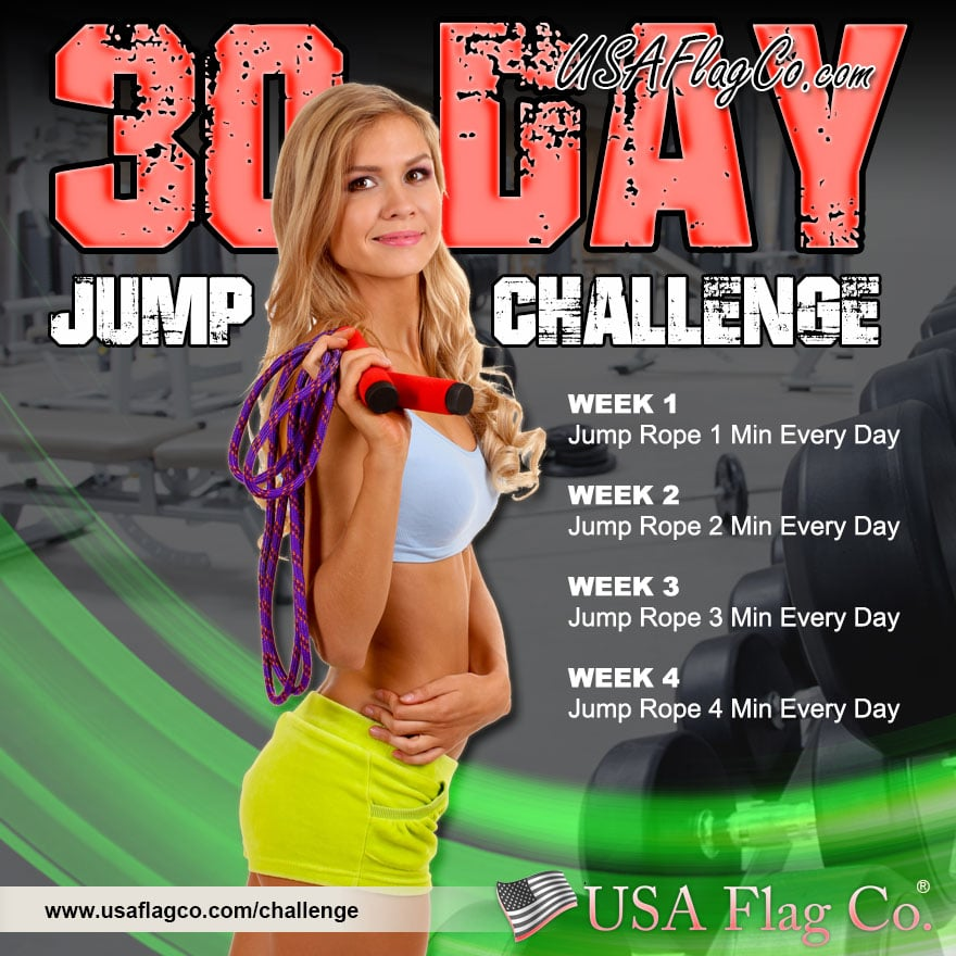 30 Day Jump Rope Challenge by USA Flag Co.